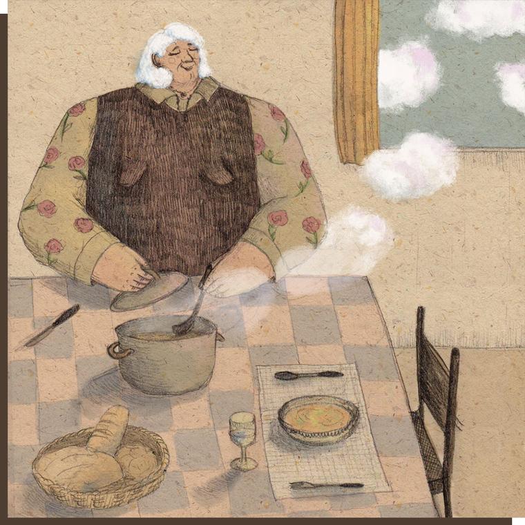 Mangiate-in-pace-Nonna-frame-sx
